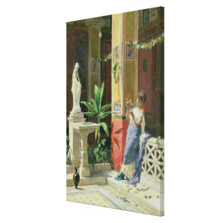 In a Courtyard in Pompeii, 1878 Canvas Print