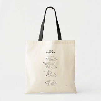 In a Dog's Age Canvas Bag