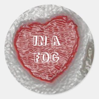 In A Fog Classic Round Sticker