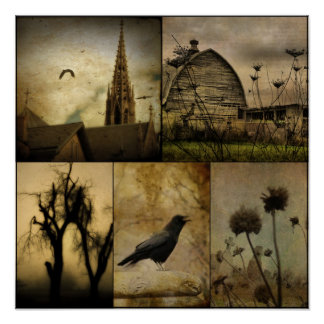 In A Gothic World Poster