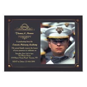 military graduation invitations zazzle