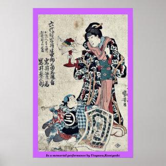 In a memorial performance by Utagawa,Kuniyoshi Poster