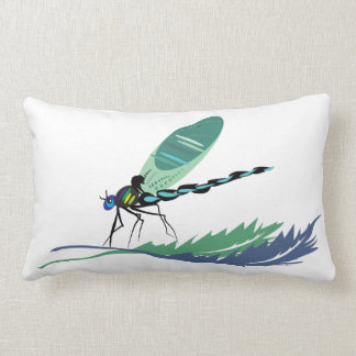 in a modern way and coloured kiss with libelle lumbar pillow