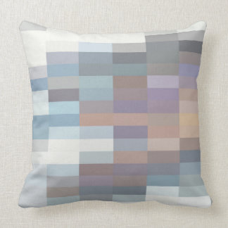 in a modern way and coloured kissing throw pillow
