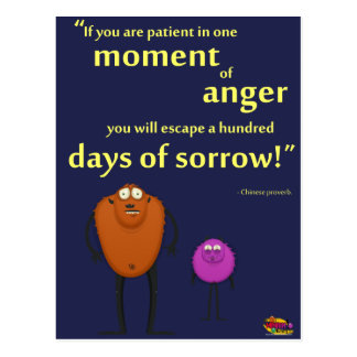 In a Moment of Anger - Motivational Monster Postcard