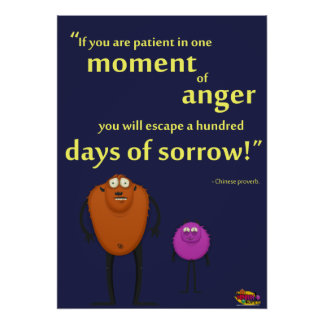 In a Moment of Anger - Motivational Monster Posters