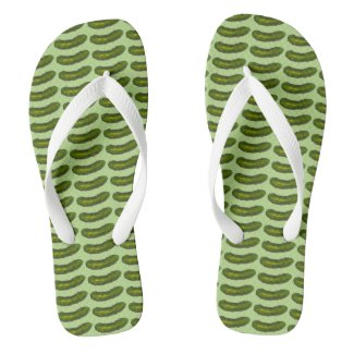 In a Pickle Green Dill Pickles Foodie Flip Flops