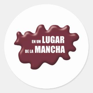 IN A PLACE DE LA MANCHA CLASSIC ROUND STICKER
