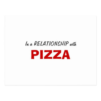In a Relationship with Pizza Postcard