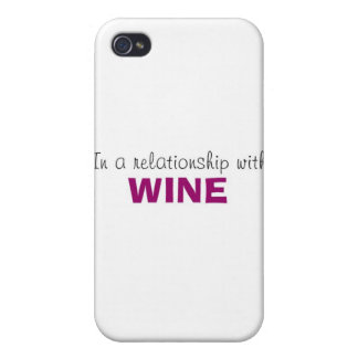 In a Relationship with Wine iPhone 4/4S Case