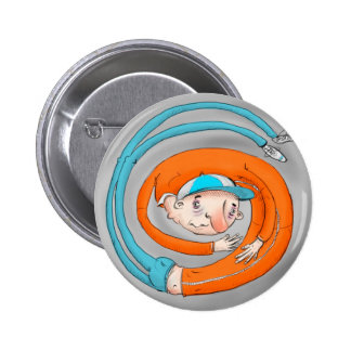 In A Spin Badge Pinback Button