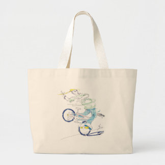 In a spin color tote bag