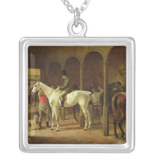 In a Stable Silver Plated Necklace