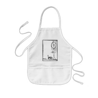 In a tree kids' apron