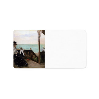 In a villa on the beach by Berthe Morisot Personalized Address Label