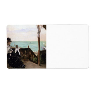 In a villa on the beach by Berthe Morisot Shipping Labels