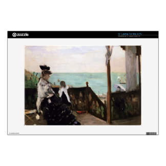 In a villa on the beach by Berthe Morisot Laptop Decals