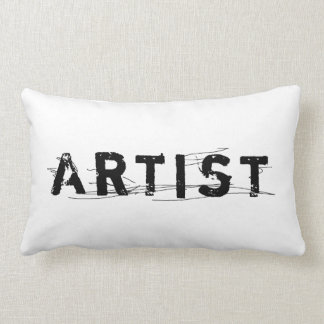 In A Word: Artist Black and White Lumbar Pillow