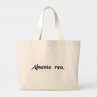 In absence of the defendant large tote bag