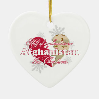 In Afghanistan this Christmas Heart Ornament