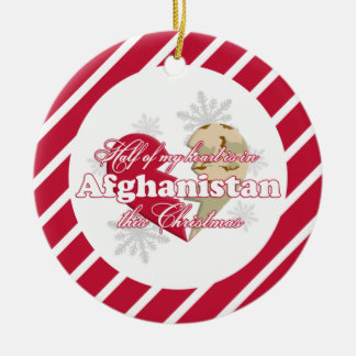 In Afghanistan this Christmas Round Ornament