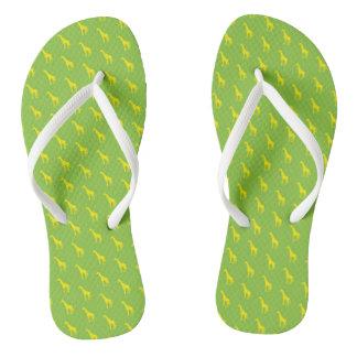 In Africa - Giraffe Green/Yellow… Flip Flops