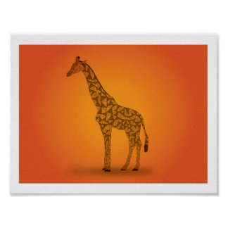 In Africa - Giraffe Poster