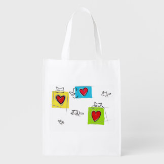 In agguato reusable grocery bags