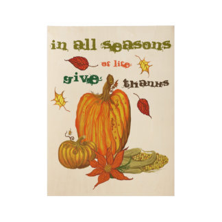In All Seasons Wood Poster