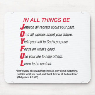 In All Things Be Joyful mouse pad