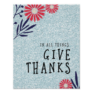 In All Things, Give Thanks Poster
