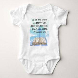 In all thy ways baby bodysuit