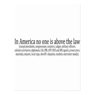 in_america_no_one_is_above postcard