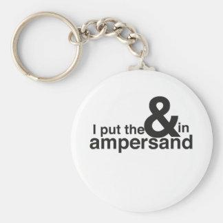 & in Ampersand Basic Round Button Keychain