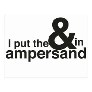 & in Ampersand Postcard