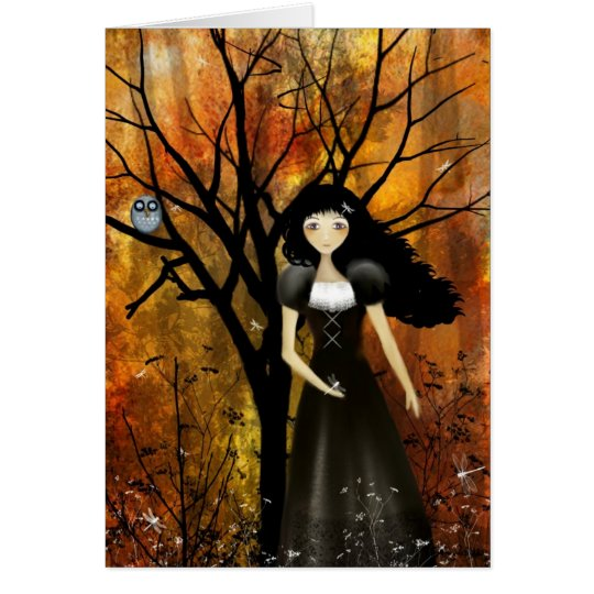 In an Autumn Forest Card