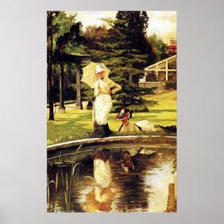 In An English Garden ~ James Tissot ~ Fine Art Poster