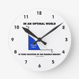 In An Optimal World Is Your Solution Feasible? Round Wall Clock