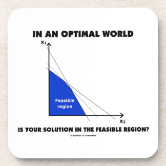 In An Optimal World Is Your Solution Feasible? Beverage Coaster