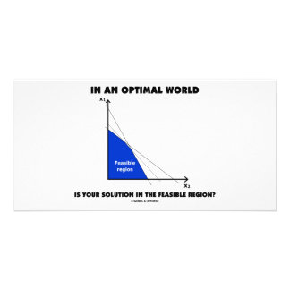 In An Optimal World Is Your Solution Feasible? Photo Card