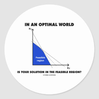 In An Optimal World Is Your Solution Feasible? Stickers