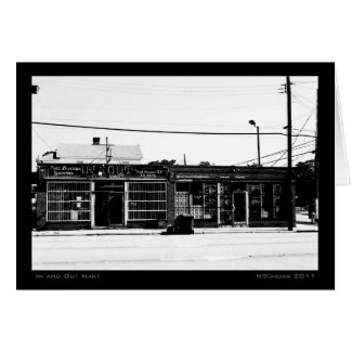 In and Out Mart Urban Street Scene Card