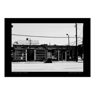 In and Out Mart Urban Street Scene Print