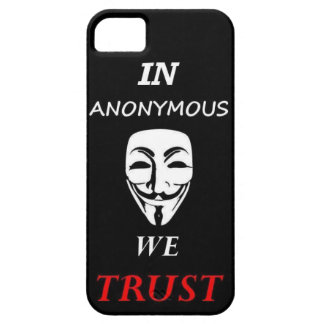 < IN ANONYMOUS WE TRUST > Popular case for iPhone! iPhone 5 Case