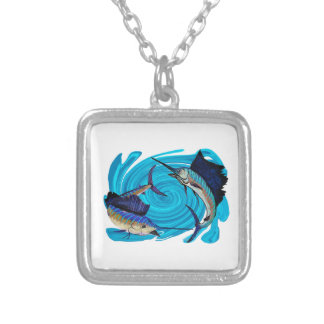 IN ATTACK FORMATION SILVER PLATED NECKLACE