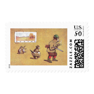 In Autumn Teddy Bears Go Hunting Postage