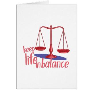In Balance Card