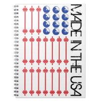 In Bar We Trust - Weightlifting American Flag Notebook