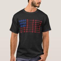 In Bar We Trust - Weightlifting American Flag T-Shirt