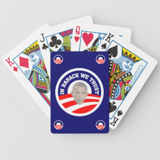 In Barack We Trust Bicycle Playing Cards